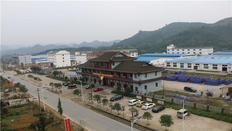安化经开区江南工业园全景照